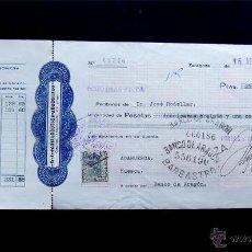 Documentos bancarios: LETRA DE CAMBIO 1930 / FARMACEUTICA ARAGONESA - ZARAGOZA / LIBRADA A BARBASTRO / HUESCA. Lote 51245300