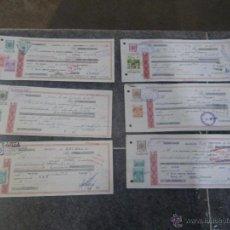 Documentos bancarios: LOTE DE 6 DOCUMENTOS BANCARIOS PAGARES DIFERENTES TIPOS ,, VER . Lote 69992919