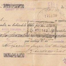 Documentos bancarios: LETRA DE CAMBIO LIBRADA POR DELFIN RIUS DE FLIX-TARRAGONA- AÑO 1935. Lote 51926789