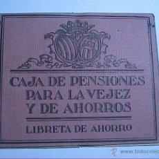 Documentos bancarios: LIBRETA DE AHORRO.1924. CAJA DE PENSIONES PARA LA VEJEZ Y DE AHORROS. BARCELONA.. Lote 52023441