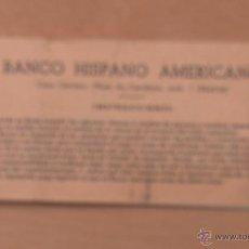 Documentos bancarios: TALONARIO CHEQUES BANCO HISPANO AMERICANO DESDE 1967, ULTIMO FIRMADO 1984. Lote 52535258