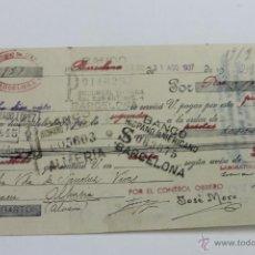 Documentos bancarios: LETRA DE CAMBIO, GUERRA CIVIL, INTERVENIDA POR EL CONTROL OBRERO 1937. Lote 52589241