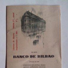 Documentos bancarios: BANCO DE BILBAO BALANCE DEL AÑO 1956. Lote 52602884