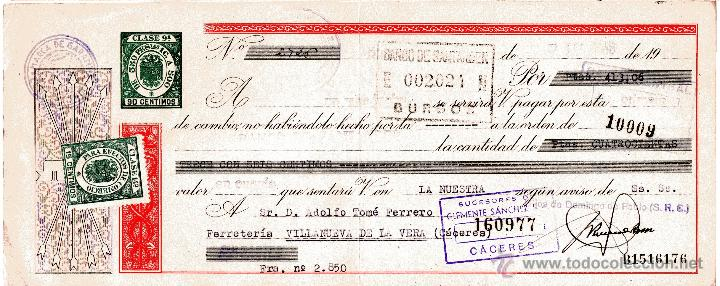 BURGOS. LETRA DE CAMBIO CLASE 9ª. HIJOS DE DOMINGO DE PABLO. 7-6-1946 (Coleccionismo - Documentos - Documentos Bancarios)