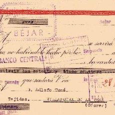Documentos bancarios: BEJAR. ENRIQUE RODRIGUEZ. LETRA DE CAMBIO CLASE 7ª DE 23-12-1947. Lote 52840846