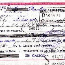 Documentos bancarios: BARCELONA TEXTIL PUIGGROS SA. LETRA DE CAMBIO CLASE 5ª SELLOS FISCALES DE 75CTS. Y 15 CTS. 30-11-49. Lote 52841032