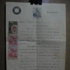 Documentos bancarios: PROTESTO NOTARIAL DE LETRA DE CAMBIO - - BARCELONA 1942. Lote 52929641