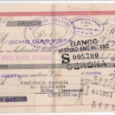 Documentos bancarios: LETRA DE CAMBIO EMITIDA EN REUS, Y PAGADERA EN BREDA,GERONA EL 23-1-55. Lote 52898314
