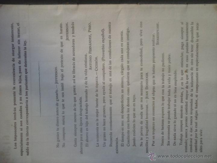 Documentos bancarios: Libreta de ahorro CAJA DE AHORROS MONTE DE PIEDAD . - Foto 3 - 53077021