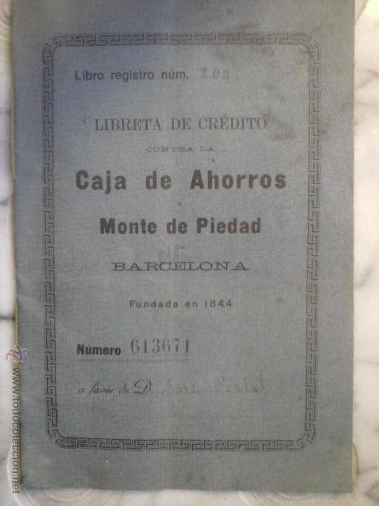 LIBRETA DE AHORRO CAJA DE AHORROS MONTE DE PIEDAD . (Coleccionismo - Documentos - Documentos Bancarios)