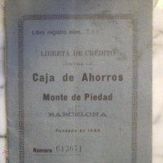 Documentos bancarios: LIBRETA DE AHORRO CAJA DE AHORROS MONTE DE PIEDAD .. Lote 53077021