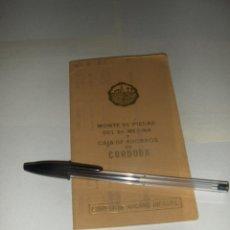 Documentos bancarios: LIBRETA DE AHORRO INFANTIL DEL MONTE DE PIEDAD DEL SEÑOR MEDINA Y CAJA DE AHORROS DE CORDOBA 1967.. Lote 53350507