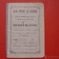 Documentos bancarios: ANTIGUA CARTILLA DE AHORROS (MADRID, 1924) CAJA POSTAL ¡EJEMPLAR HISTÓRICO! COLECCIONISTA. Lote 53504334