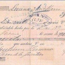 Documentos bancarios: LETRA 1900. FRANCISCO SANCHEZ, LUCENA. MANUEL MISA. Lote 53627163