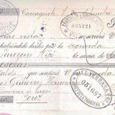Documentos bancarios: LETRA, 1898. PABLO JOURNET, CARCAGENTE. FRANCISCO LAURENS HIJO. VALENCI. Lote 53628189
