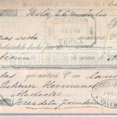 Documentos bancarios: LETRA. AÑO 1900. JOSE AZORIN. YECLA.. Lote 53630235