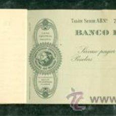 Documentos bancarios: TALONARIO CHEQUES BANCO HISPANO AMERICANO. Lote 53756867