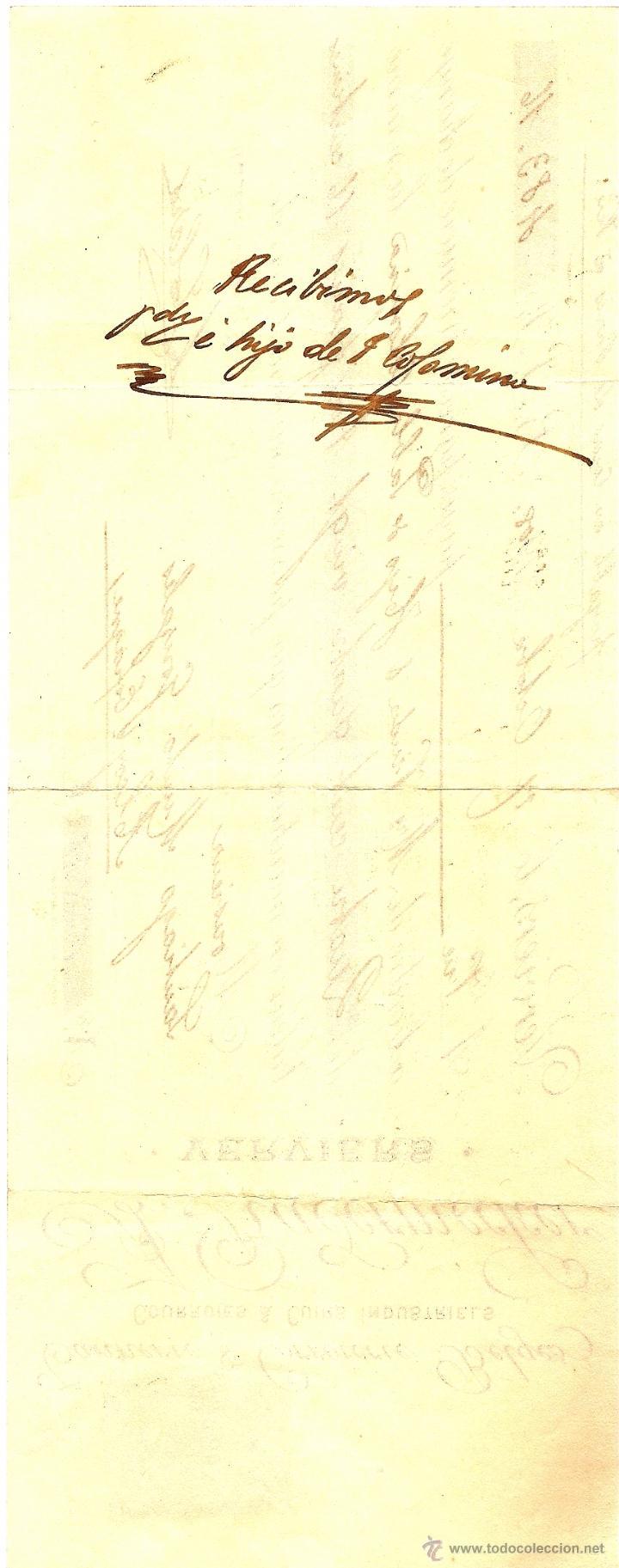 Documentos bancarios: LETRA DE CAMBIO DE A. RADERMECKER (FRANCIA) A VDA.E HIJO PABLO COLOMINA DE ALCOY (ALICANTE) AÑO 1908 - Foto 2 - 53988531