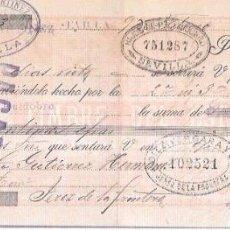 Documentos bancarios: LETRA AÑO 1900. CESAREO F. MARTINEZ, SEVILLA. DIEZ VERGARA, JEREZ.. Lote 54049576