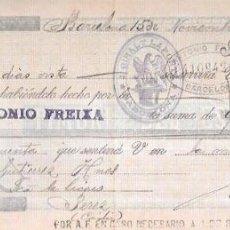 Documentos bancarios: LETRA AÑO 1900. GIRALT LA PORTA, BARCELONA.. Lote 54050049
