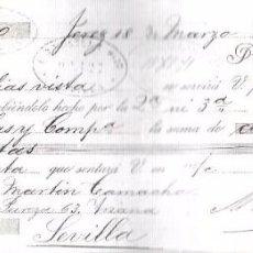 Documentos bancarios: LETRA, AÑO 1893. E. BOUISSET E. HIJO, SEVILLA.. Lote 54058018