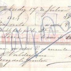 Documentos bancarios: LETRA, AÑO 1893. LAINEZ Y GILES. ANT. SICRE, CADIZ.. Lote 54060071