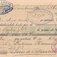 Documentos bancarios: LETRA, AÑO 1900. JUAN MUSOLAS Y Cª, BARCELONA. EDUARDO LUQUE, QUINTANAR DE LA ORDEN.. Lote 54103300