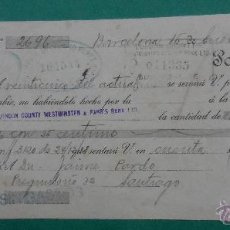 Documentos bancarios: LETRA DE CAMBIO. BARCELONA 1919.. Lote 54103529