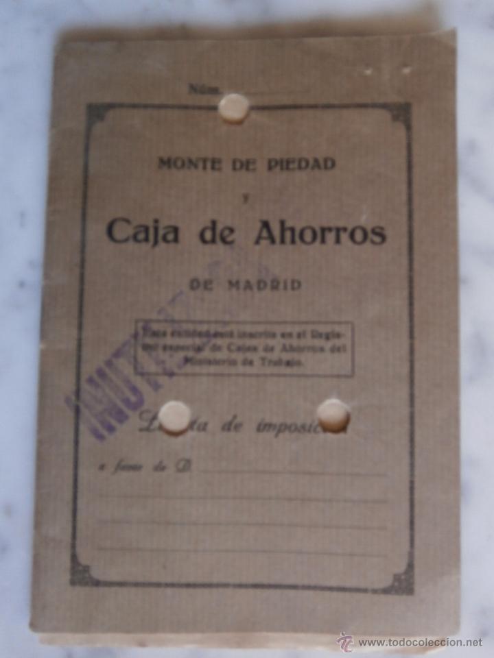 LIBRETA MONTE DE PIEDAD Y CAJA DE AHORROS DE MADRID INUTILIZADA (Coleccionismo - Documentos - Documentos Bancarios)