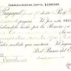 Documentos bancarios: LETRA, GUAYAQUIL, AÑO 1903. GUTIERREZ HERMANOS.. Lote 54246718