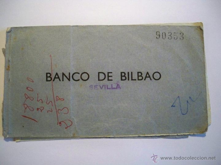 TALONARIO CHEQUES BANCO DE BILBAO - AÑOS 60 (Coleccionismo - Documentos - Documentos Bancarios)