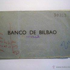 Documentos bancarios: TALONARIO CHEQUES BANCO DE BILBAO - AÑOS 60. Lote 54472531