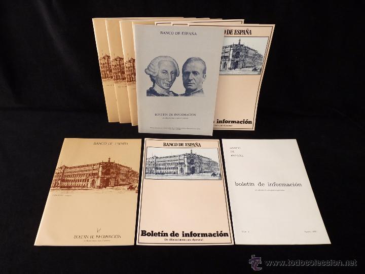 LOTE DE 11 NÚMEROS BOLETÍN DE INFORMACIÓN BANCO DE ESPAÑA 1980-83 (Coleccionismo - Documentos - Documentos Bancarios)