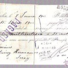 Documentos bancarios: LETRA BANCARIA. PRAGER & LOJDA. BERLIN. AÑO 1900.. Lote 54871848