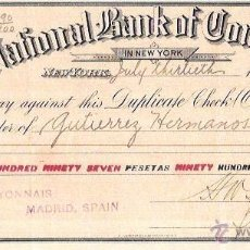 Documentos bancarios: PAGARÉ. NATIONAL BANK OF COMMERCE. NEW YORK. 1917.. Lote 54896419