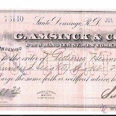 Documentos bancarios: LETRA BANCARIA. S. MICHELENA. SANTO DOMINGO - PUERTO PLATA. JULIO DE 1911.. Lote 54905090