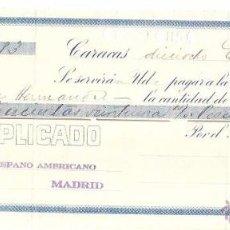 Documentos bancarios: LETRA BANCARIA. BANCO CARACAS. ENERO DE 1926.. Lote 54905373
