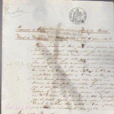 Documentos bancarios: PAGARÉ.TESORO PÚBLICO.PROVINCIA DE CÁDIZ.VENTA DE BIENES NACIONALES.SELLO FISCAL.. Lote 54964988