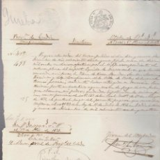 Documentos bancarios: PAGARÉ.TESORO PÚBLICO.PROVINCIA DE CÁDIZ.VENTA DE BIENES NACIONALES.SELLO FISCAL.. Lote 54965029