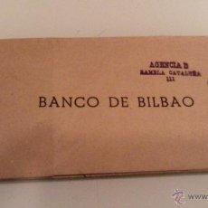 Documentos bancarios: TALONARIO DE CHEQUES BANCO DE BILBAO AÑO 1945 EXCELENTE ESTADO. Lote 54985403