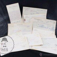 Documentos bancarios: CONJUNTO DE DOCUMENTOS BANCARIOS, FACTURAS, RECIBÍS - BANCO DE BARCELONA, AÑO 1920. Lote 55091076