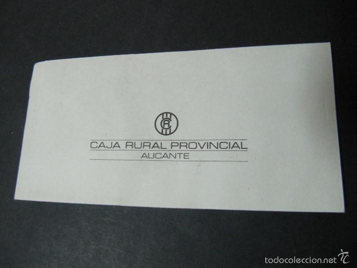 ANTIGUA CHEQUERA CAJA RURAL PROVINCIAL. ALICANTE. TALONARIO DE CHEQUES (Coleccionismo - Documentos - Documentos Bancarios)