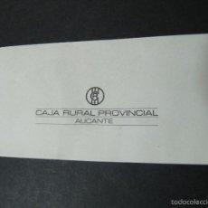 Documentos bancarios: ANTIGUA CHEQUERA CAJA RURAL PROVINCIAL. ALICANTE. TALONARIO DE CHEQUES. Lote 55696987
