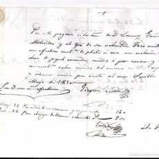 Documentos bancarios: PAGARÉ, AÑO 1850. 3.000 REALES DE VELLON.. Lote 55820406
