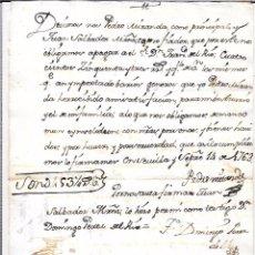 Documentos bancarios: PAGARÉ, AÑO 1763. 493 REALES DE VELLON.. Lote 55820487