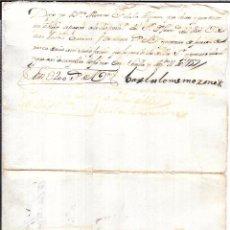 Documentos bancarios: PAGARE, AÑO 1759. 200 REALES DE VELLON.. Lote 55820757