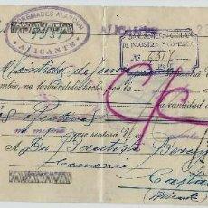 Documentos bancarios: LETRA DE CAMBIO AÑO 1936 - CLASE 12ª Y SELLO DE 15 CTMOS. Lote 56106729