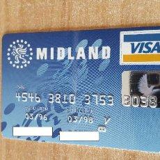 Documentos bancarios: TARJETA CRÉDITO - MIDLAND AÑOS 90`S (VER IMÁGEN ADICIONAL). Lote 56183086