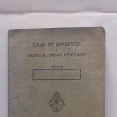 Documentos bancarios: LIBRETA CAJA DE AHORROS Y MONTE DE PIEDAD DE MADRID, AÑO 1977. Lote 56205203
