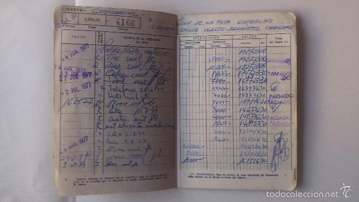 Documentos bancarios: LIBRETA CAJA DE AHORROS Y MONTE DE PIEDAD DE MADRID, AÑO 1977 - Foto 3 - 56205203